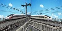 china speed train - model