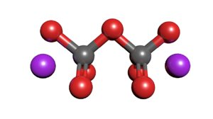 potassium dichromate molecule k2cr2o7 3D model