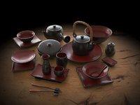 Japanese tableware set