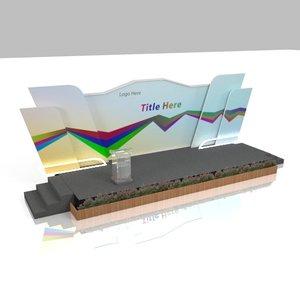 3D panels backdrop stage rostrum