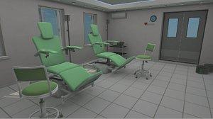 vr blood transfusion hospital room 3D model