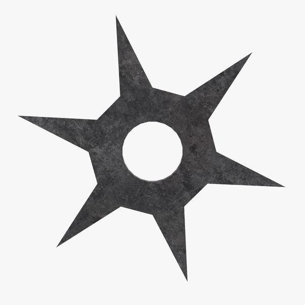 roppo throwing star 3D model