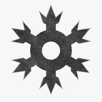 3D roppo-hana throwing star