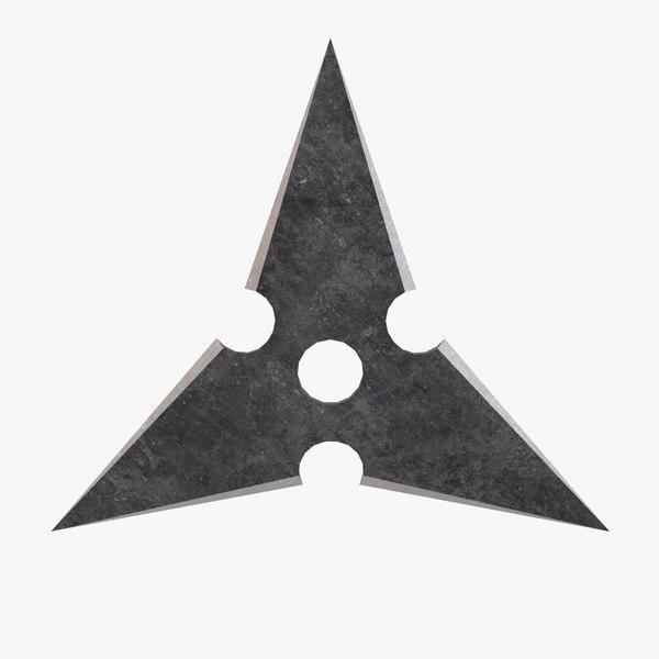 3D sanban throwing star model