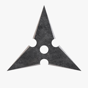 3D sanban throwing star model