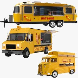3D food trucks