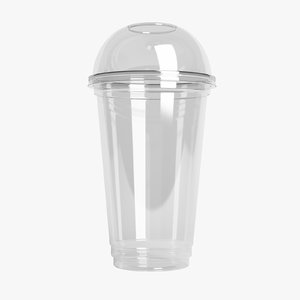 plastic cup 500ml - 3D model