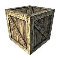 wooden box model