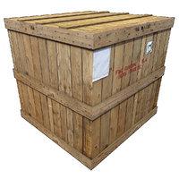 3D wood cargo box