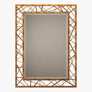 3D mirror decor
