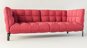 3D husk sofa model