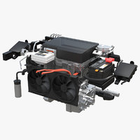 electric car engine 3D