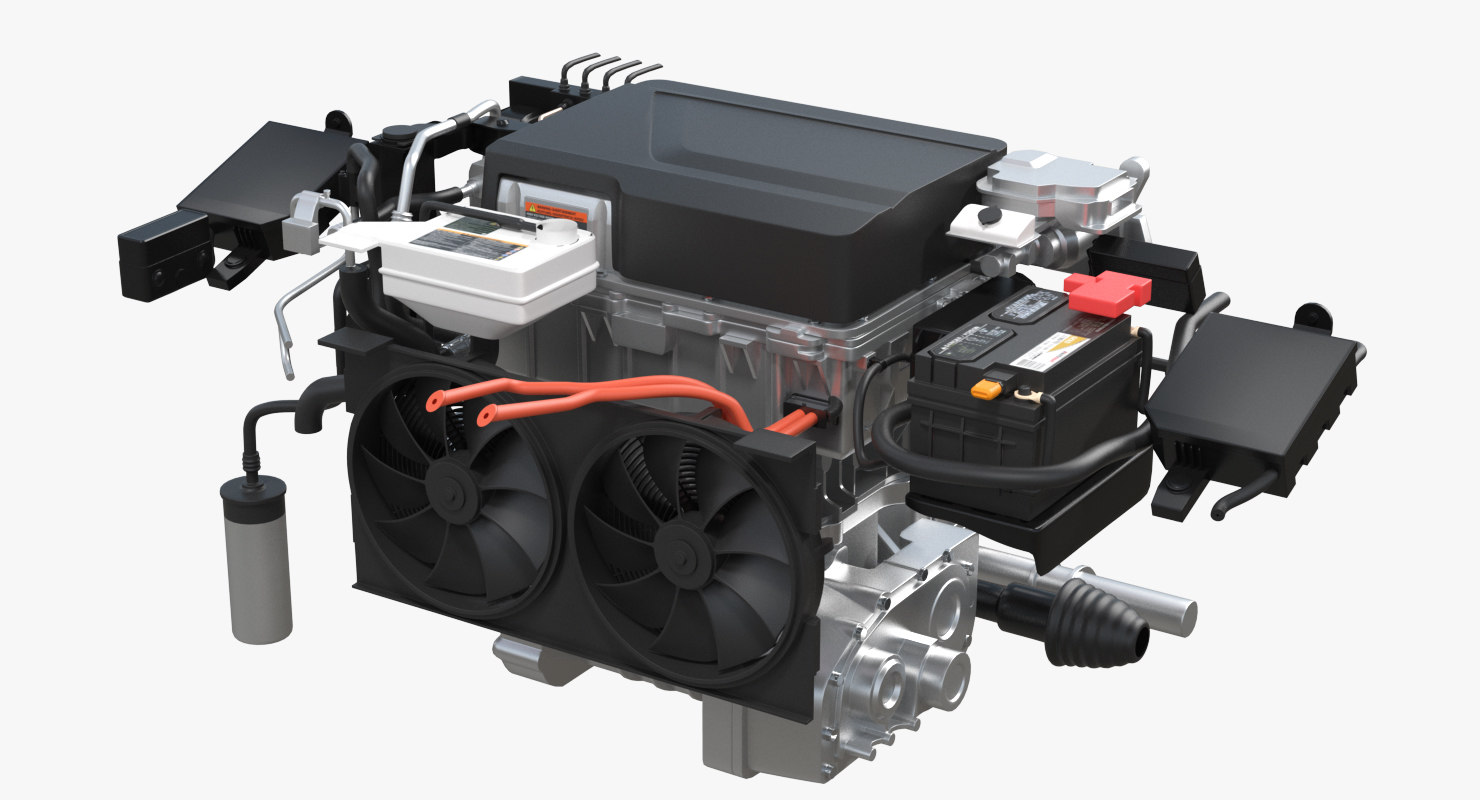 electric car engine 3D