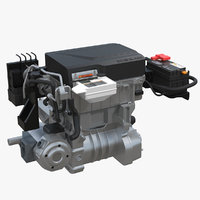 nissan leaf engine 2 3D model