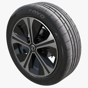 nissan wheel car 3D model
