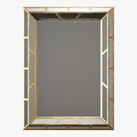 Paragon aged gold mirror