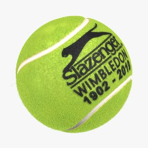 3D realistc tennis ball oficial model