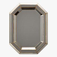 Surya gordon champagne wall mirror