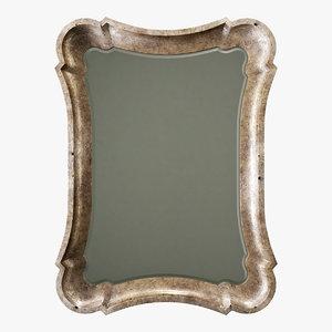 3D mirror decor model
