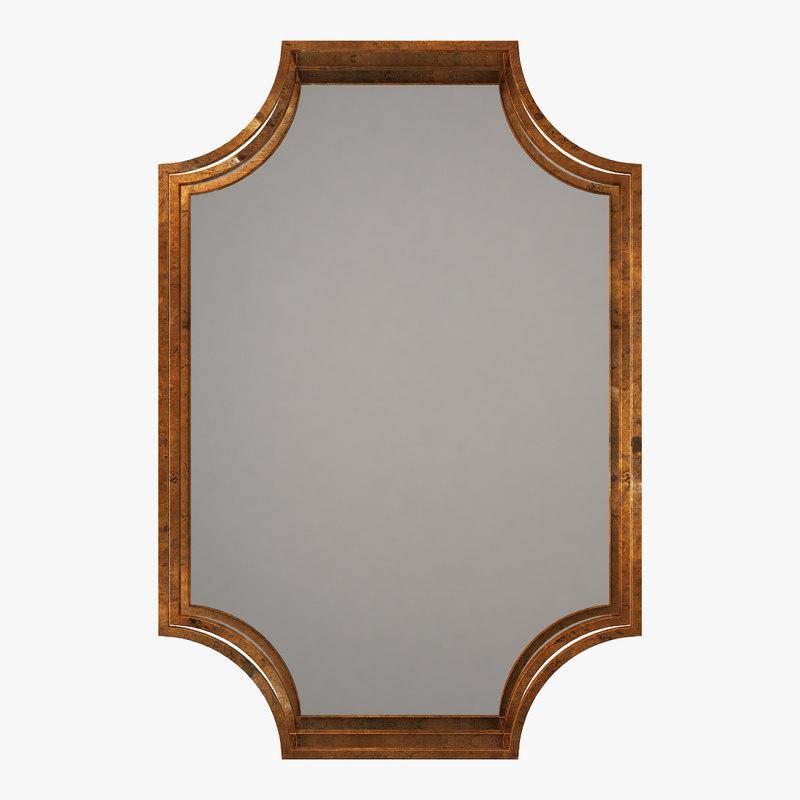 3D wall mirror