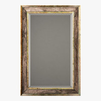 Uttermost quintina burnished pine frame and antiqued gold leaf mirror