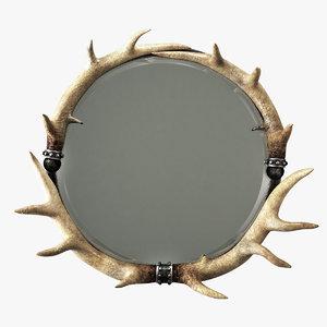 3D model mirror decor