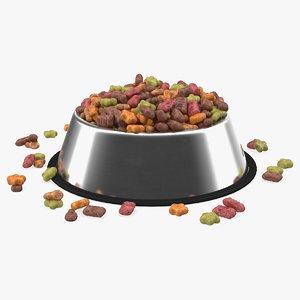 dry pet food stainless steel 3D model