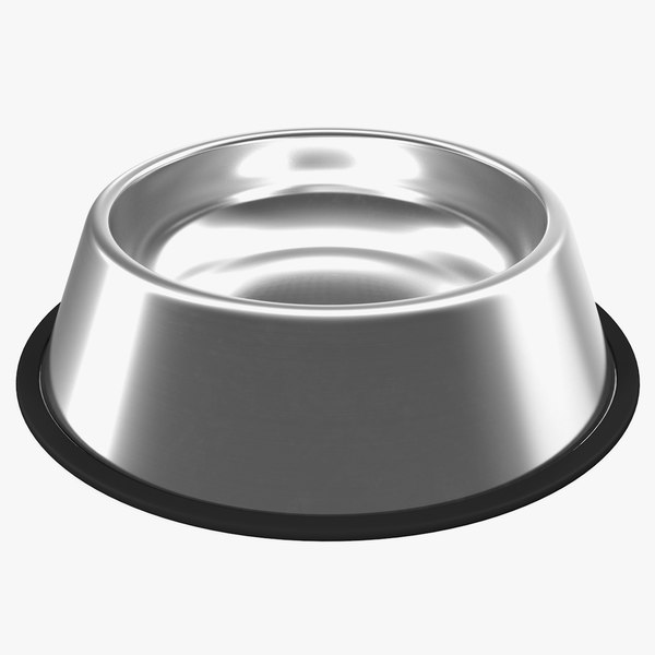 3D stainless steel bowl model