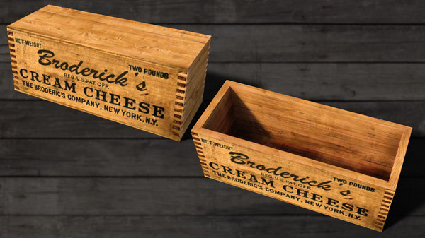 vintage cheese box 3D model