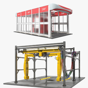 car wash systems 3D