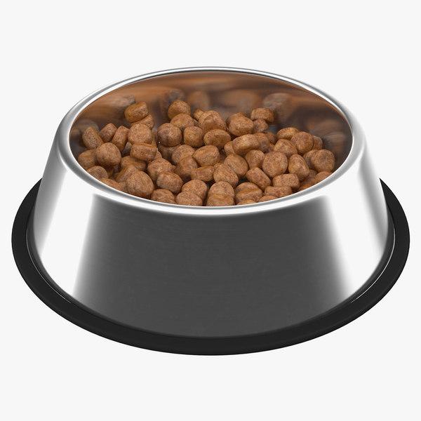 3D dog bowl stainless steel model