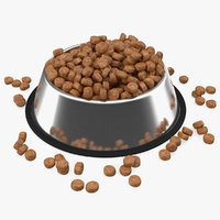 Dry Dog Food Stainless Steel Bowl
