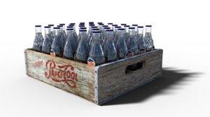 3D vintage case sodas