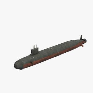 seawolf attack submarine 3D model