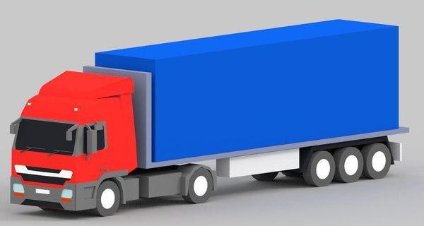 3D model truck games