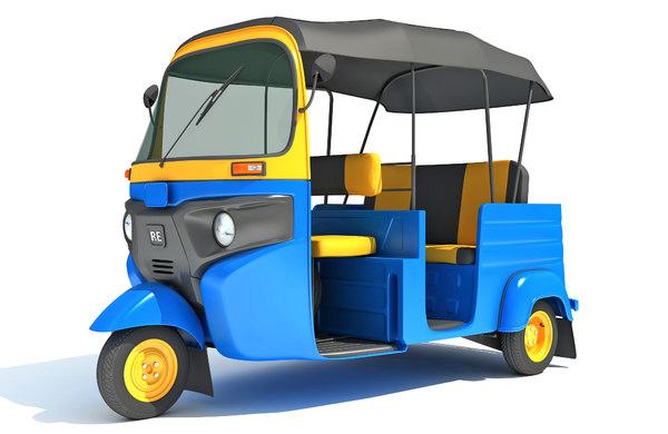 auto rickshaw mini taxi 3D model