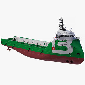 ulstein px105 bourbon platform supply 3D model