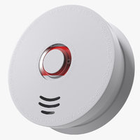 3D wireless smoke detector siterwell
