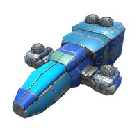 light space fighter 3D model