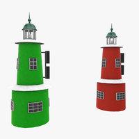 helsingor light house 3D model