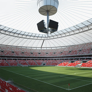 warsaw national stadium model
