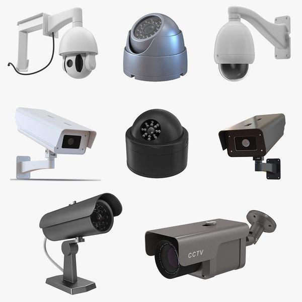 cctv cameras 4 3D model