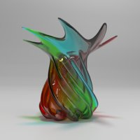 3D model colorful vase