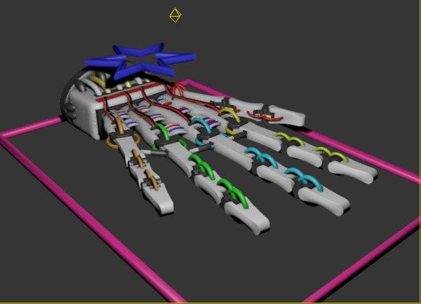robotic hand 3D