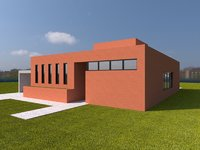 3D model architecture house home
