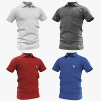 3D polo shirts model