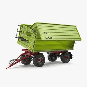 conow hw-80 trailer clean 3D model