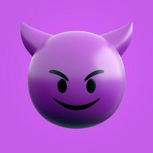 3D cute devil emoji