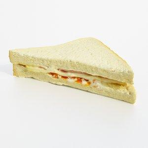 3D sandwich bread model