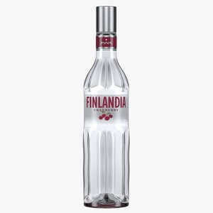 finlandia cranberry vodka bottle 3D